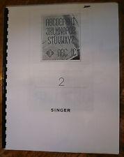 Singer 6268 Embroidery Alphabet Monogram Cartridge #2 Instruction Manual Book