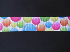 "bubbles colourful grosgrain ribbon 7/8"" per 1 m hair scrapbooking card making"