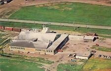 """Vintage postcard,""""Summers Fertilizer"""" plant/building, Grand Forks, ND"""