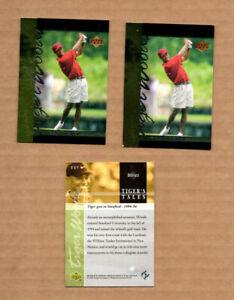 3 card Lot of 2001 Upper Deck Tiger's Tales #TT7 Tiger Woods