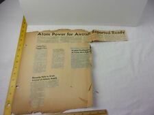 1948 Uranium headlines Costa Mesa CA ranch Atomic energy clippings
