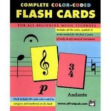 89 Coloured Flash Cards: Music Theory Flashcards by Alfred, Music Teaching Aid