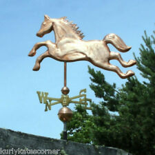 """ COPPER ""HORSE"" WEATHERVANE W/COPPER BALLS & BRASS DIRECTIONAL MADE IN USA #217"