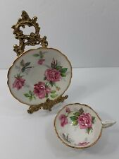 Berkeley Rose Cup and Saucer Pink Floral Pattern Bone China Made in England