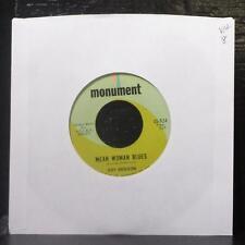 "Roy Orbison - Mean Woman Blues / Blue Bayou 7"" VG+ Vinyl 45 Monument 45-824"