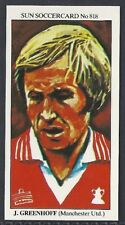 SUN-SOCCERCARDS FOOTBALL-#0818- MANCHESTER UNITED - JIMMY GREENHOFF