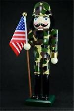 """14"""" Armed Forces Army Wooden Nutcrackers Soldier Camoflage  N-14216"""