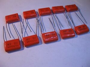 Nichicon Japan Film Capacitor Orange .82uF 10% 250VDC 0.82 - NOS Qty 10