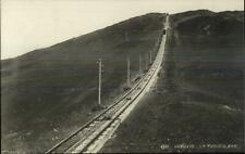 Mt. Vesuvio Italy Funicolare Incline RR Train Tracks c1910 Real Photo Postcard
