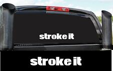 STROKE IT DIESEL 4X4 BUMPER STICKER DECAL COUNTRY POWER STROKE