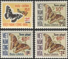 Viet Nam 1974 Postage Due/Butterflies/Moths/Insects/Nature/To Pay 4v set n28108