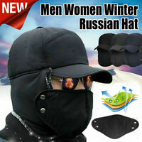 Windproof Winter Thermal Bomber Hats Men Women Fashion Ear Protection Face cap