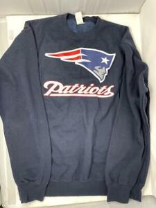 New England Patriots Sweater Navy Blue XL Sweat Shirt Sweatshirt