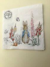 4 X  Single Paper Napkins Peter Rabbit 33cm 3 Ply *
