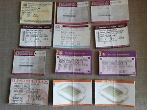 Football Ticket Stubs x 12.