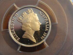 1991 5 Cents Australia Silver Gem Proof PCGS PR69 DCAM