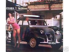Älteres Blechschild Oldtimer Citroen Ente 2CV Reklame Werbung gebraucht used