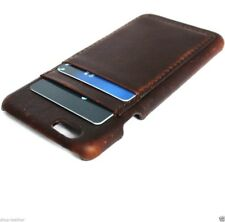 genuine leather Case for apple iphone 6 plus slim hard cover brown cards slots R