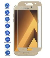 Tempered glass screen full protector film for Samsung Galaxy A5 2017 Color Gold