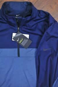 NWT Nike Shield Victory 1/2 Zip Golf Jacket Blue Men's Medium M