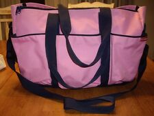 EUC Skip Hop Duo Petal Pink Deluxe Diaper Bag Travel Baby Girl Canvas TWINS