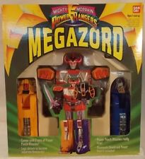 "Mighty Morphin Power Rangers 1993  9"" Medium Missile Firing Dino Megazord (MISB)"