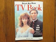 1993 Detroit Press TV Book/Magaz(THE THORN BIRDS/RICHARD CHAMBERLAIN/RACHEL WARD