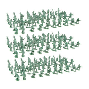 300 Pieces Realistic Plastic Military Soldiers Figure Scene Accessory Toys