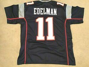 UNSIGNED CUSTOM Sewn Stitched Julian Edelman Blue Jersey - M, L, XL, 2XL