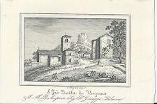 1851 SAN GIOVANNI BATTISTA DI VERZUNO Camugnano Bologna litografia Enrico Corty