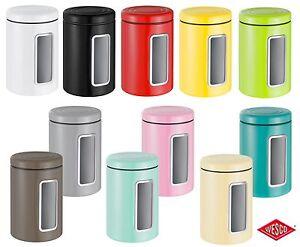 Wesco Vorratsdose mit Fenster Classic Keksdose Kaffeedose Cookiebox viele Farben