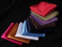 PA Solid Men Silk Satin Pocket Square Hanky Wedding Party Handkerchief