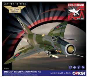 Corgi AA28403 - 1:48th Lightning F.6- XS904 / BQ- RAF No.11 Sqd, Binbrook, 1987