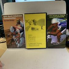 lot of 3 World Cycling Productions Velodrome Track Championships VHS Used