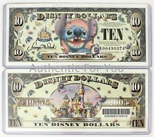 NEW Disney Parks Disney Dollars STITCH $10 Ten Dollars 1955-2005 RARE