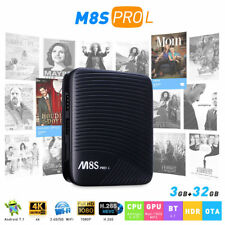 M8S PRO L ATV 3+32GB Smart TV BOX Octa Core Android7.1 4K Dual WIFI Media Player