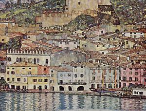 GUSTAV KLIMT Malcena At Lake Garda CANVAS PICTURE POSTER PRINT UNFRAMED #A265