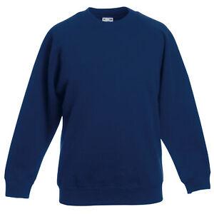 Fruit Of The Loom Childrens  Raglan Sleeve Sweatshirt (BC1365)