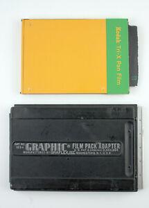 "U201800 Vintage Graflex 4x5"" Film Pack Adapter #1234 for Wet Plate Conversion"