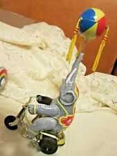 Vintage Wind-up Tin Toy Circus Elephant on Tricycle w/Spinning Ball by Blic