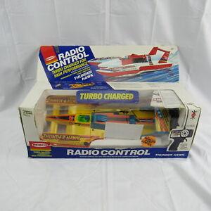 1987 Remco 1601 Radio Control Thunder Hawk RC Racing Boat In Original Box