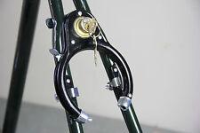 Bike Bicycle Lock Pad Lock Wheel Lock Vintage Style Iron Black