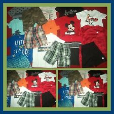 HUGE LOT~SUMMER CLOTHES SHIRTS SHORTS CONVERSE DISNEY OUTFITS BOYS SIZE 2T 3T