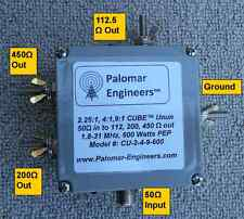 Palomar Engineers CU-2-4-9-600 2:1 4:1 9:1 Combo Antenna Unun End Fed 600 Watt