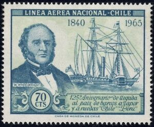1966 Chile SC# C268 - Ship Type of regular Issue - M-H