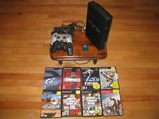Sony PlayStation 2 Bundle Console 2 Controllers 8 Games Memory Card Nice GIFT