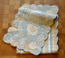 """C & F Natural Shells Seaside Quilted Table Runner ~ 14 x 52""""   **FREE SHIPPING**"""