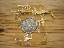 1934 20 franc français 68 Pièce Argent + Sac Cadeau Pour 85th Anniversaire Carte De France 85