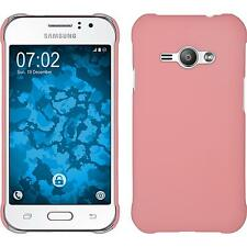 Hardcase Samsung Galaxy J1 ACE rubberized pink Cover + protective foils