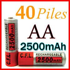 40 PILES ACCUS RECHARGEABLE AA NI-MH 2500mAh 1.2V LR06 MIGNON - DIRECT DE FRANCE